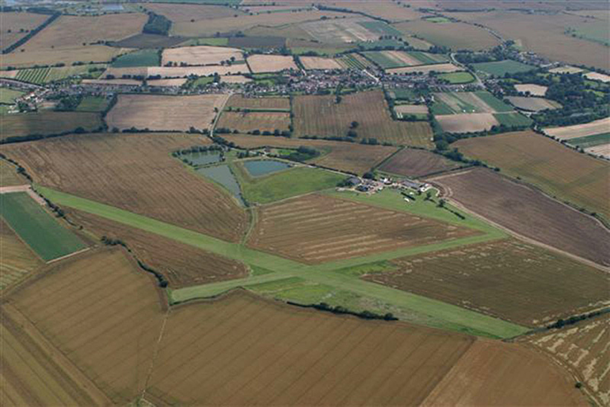 Aerial view of Great Oakley Airfield